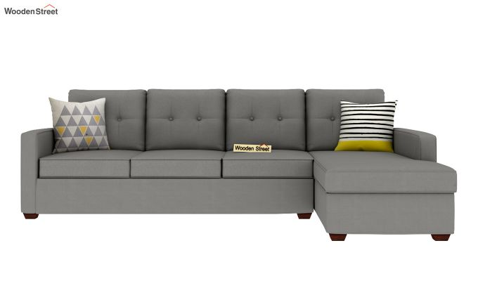 Nicolas 3 Seater L Shape Right Aligned Sofa (Warm Grey)-3