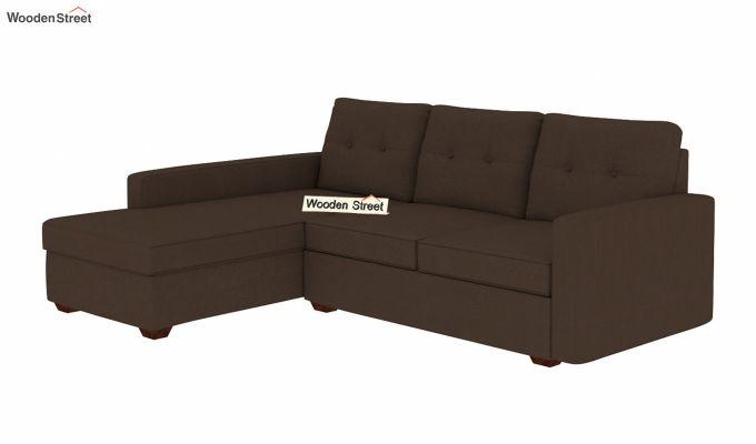 Nicolas L Shape Left Aligned Sofa (Classic Brown)-2