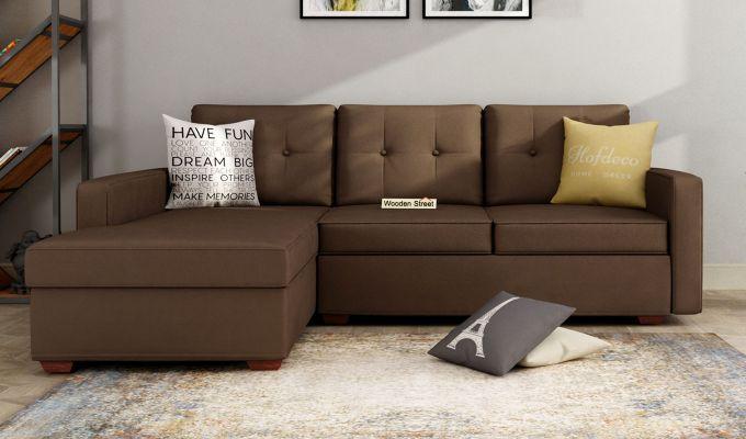 Nicolas L Shape Left Aligned Sofa (Classic Brown)-1