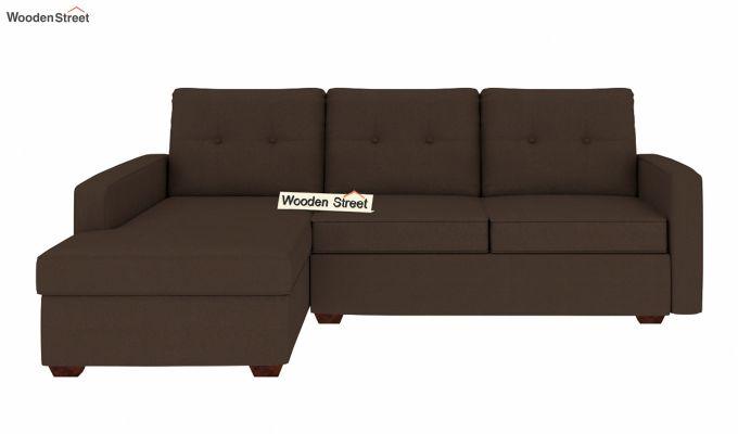 Nicolas L Shape Left Aligned Sofa (Classic Brown)-3