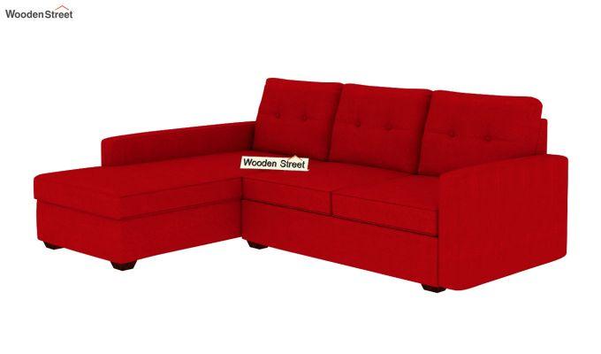 Nicolas L Shape Left Arm Sofa (Dusky Rose)-2