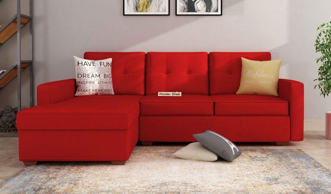 Nicolas L Shape Left Arm Sofa (Dusky Rose)-1