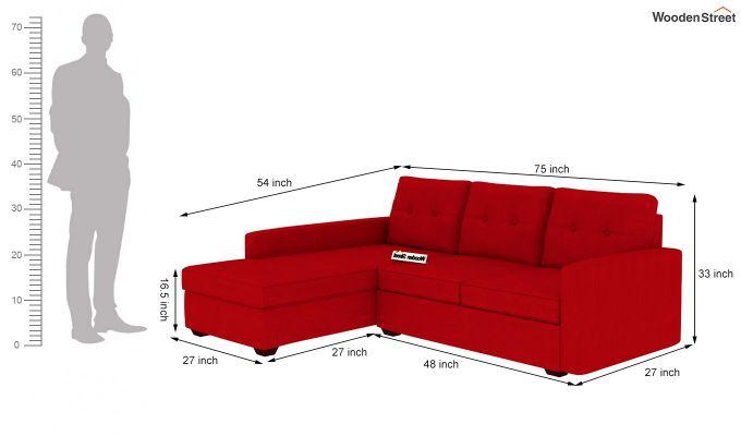 Nicolas L Shape Left Arm Sofa (Dusky Rose)-4