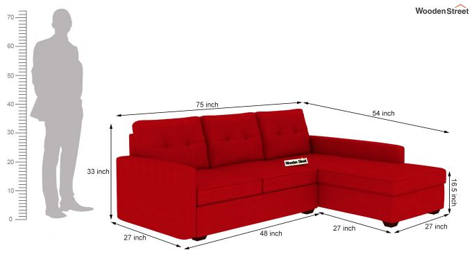 Nicolas L Shape Right Aligned Sofa (Dusky Rose)-5