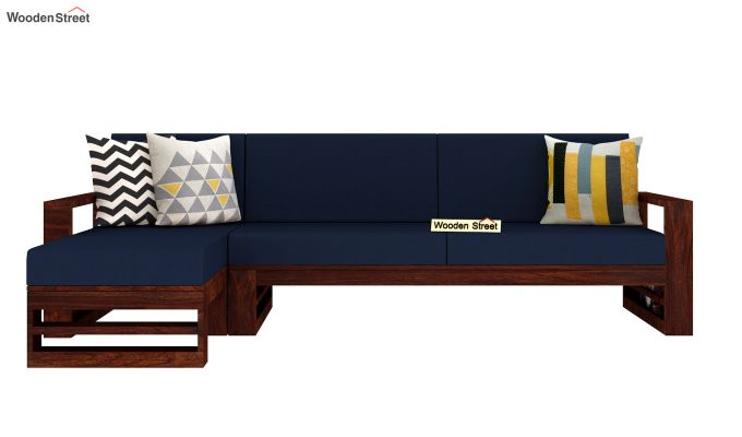 Ryker L-Shape Left Aligned Wooden Sofa (Indigo Ink)-3