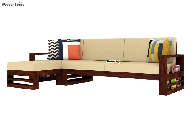 Ryker  L-Shape Left Arm Wooden Sofa (Irish Cream)-2