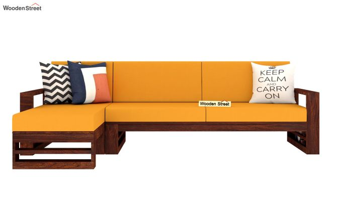 Ryker  L-Shape Left Arm Wooden Sofa (Yellow Blush)-3