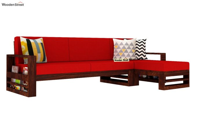Ryker L-Shape Right Arm Wooden Sofa (Dusky Rose)-2