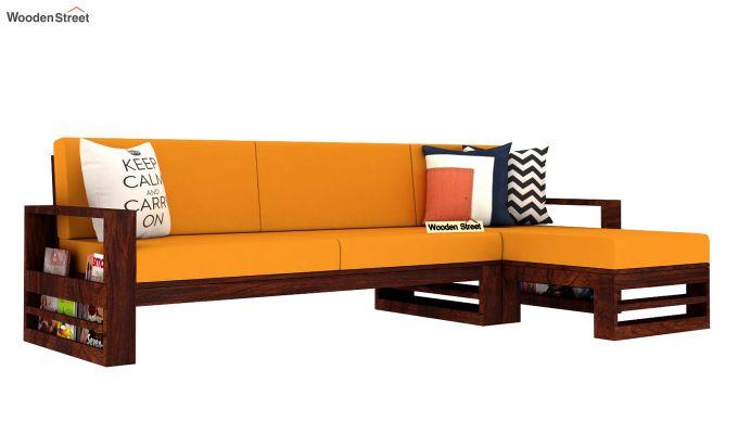 Ryker L-Shape Right Arm Wooden Sofa (Yellow Blush)-2