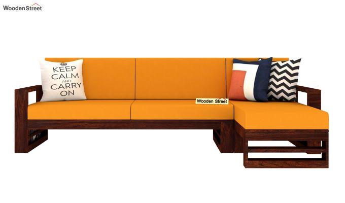 Ryker L-Shape Right Arm Wooden Sofa (Yellow Blush)-3