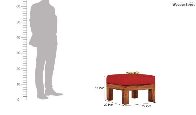 Vigo L-Shaped Wooden Sofa (Dusky Rose, Teak Finish)-12