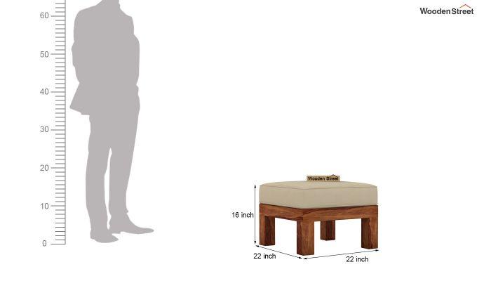Vigo L-Shaped Wooden Sofa (Irish Cream, Teak Finish)-12