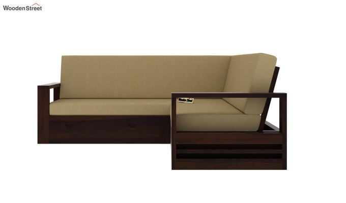 Winster L-Shaped Wooden Sofa with Storage (Walnut Finish)-3