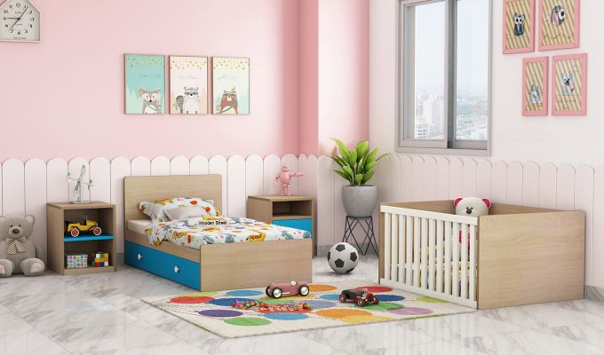 Haven Multi-Functional Crib (Celestial Blue)-2