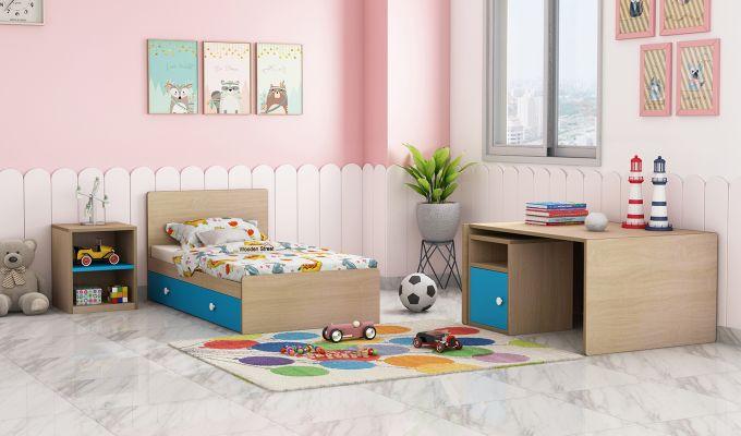 Haven Multi-Functional Crib (Celestial Blue)-3