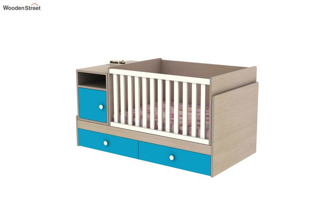 Haven Multi-Functional Crib (Celestial Blue)-6