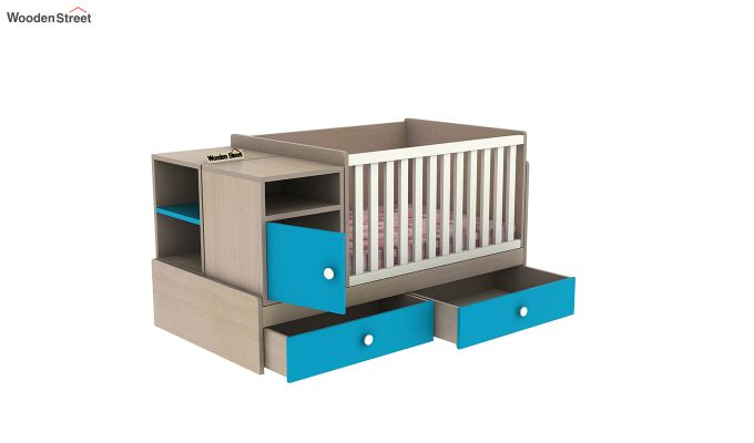 Haven Multi-Functional Crib (Celestial Blue)-7