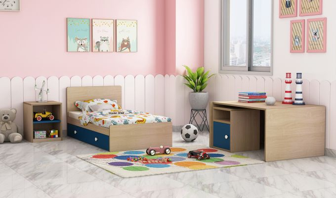 Haven Multi-Functional Crib (Electric Blue)-3