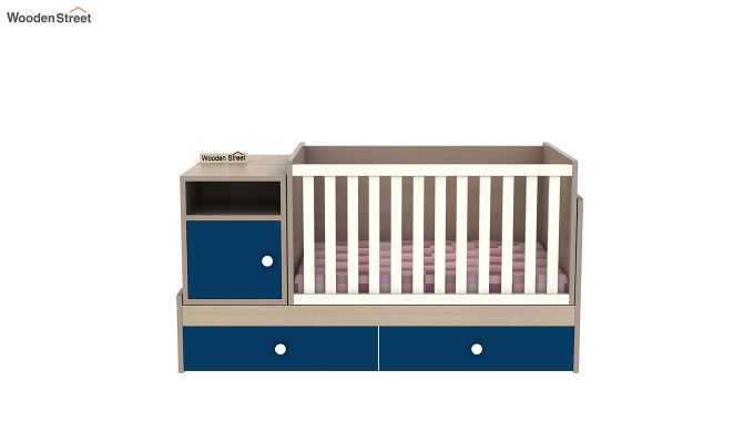Haven Multi-Functional Crib (Electric Blue)-5