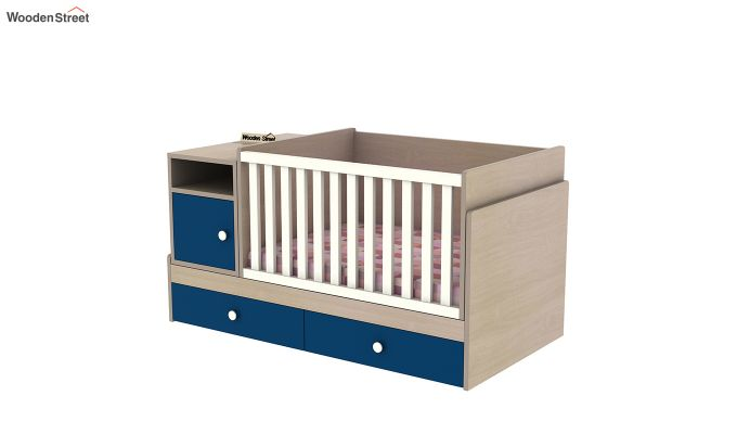 Haven Multi-Functional Crib (Electric Blue)-6