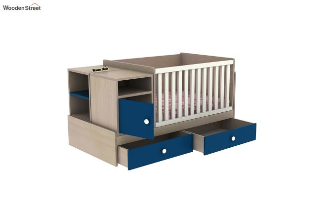 Haven Multi-Functional Crib (Electric Blue)-7