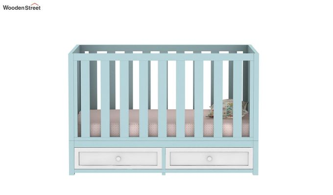 Lunar Crib With Storage Drawer (Dual Color)-3