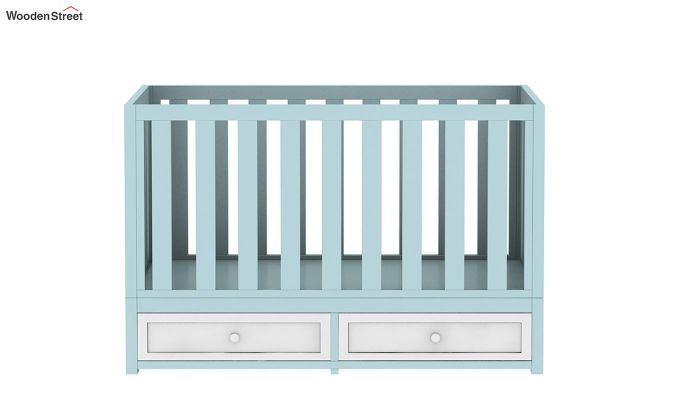 Lunar Crib With Storage Drawer (Dual Color)-4