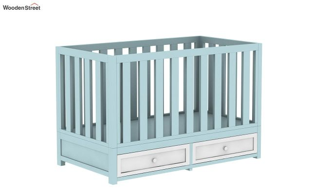 Lunar Crib With Storage Drawer (Dual Color)-5