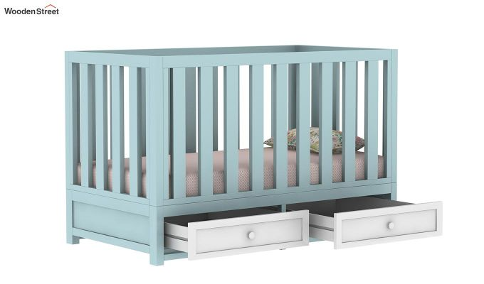Lunar Crib With Storage Drawer (Dual Color)-8