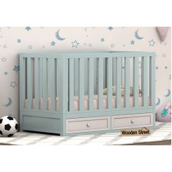 Lunar Crib With Storage Drawer (Dual Color)