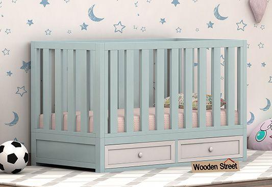 Wooden baby cot online in India
