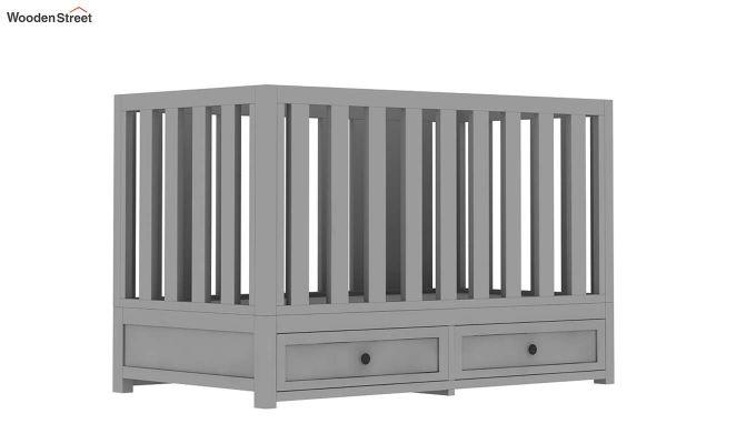 Lunar Crib With Storage Drawer (Grey)-2