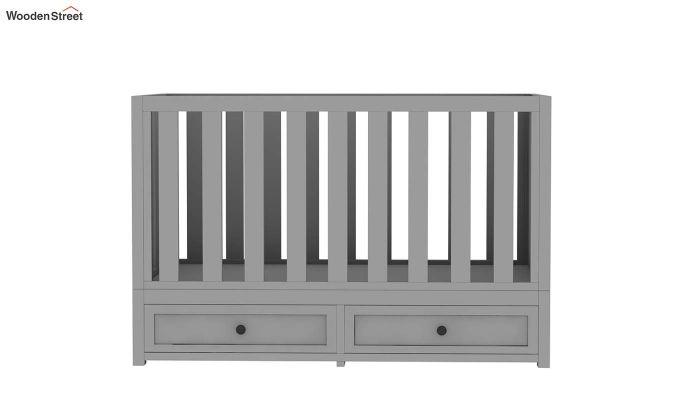 Lunar Crib With Storage Drawer (Grey)-3
