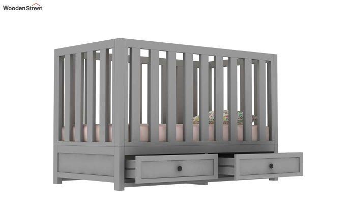 Lunar Crib With Storage Drawer (Grey)-4