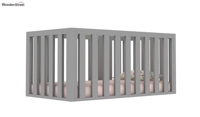 Lunar Crib With Storage Drawer (Grey)-5