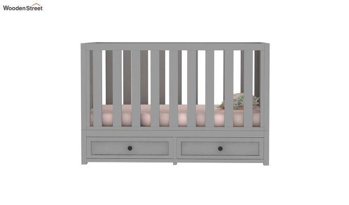 Lunar Crib With Storage Drawer (Grey)-7