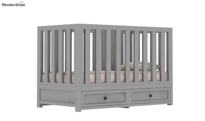Lunar Crib With Storage Drawer (Grey)-8