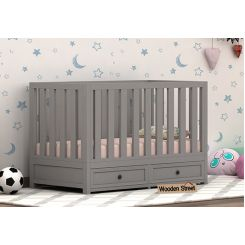 Lunar Crib With Storage Drawer (Grey)