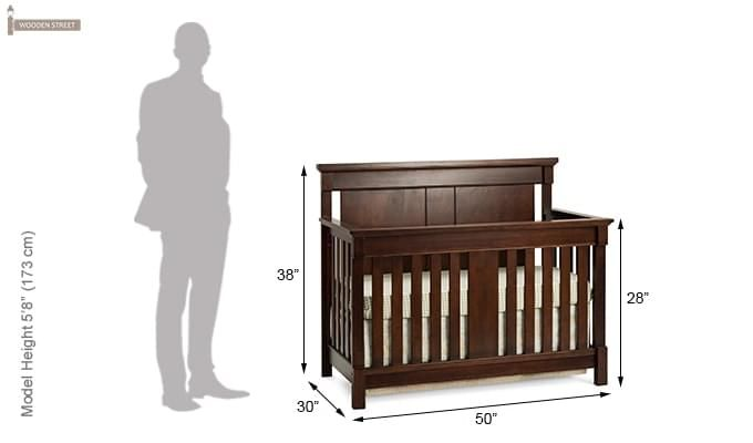 Parson Crib (Mahogany Finish)-3