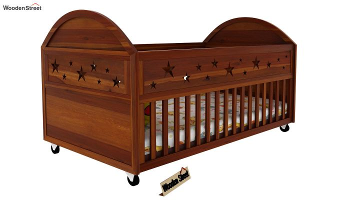 Pristine Crib (Honey Finish)-1