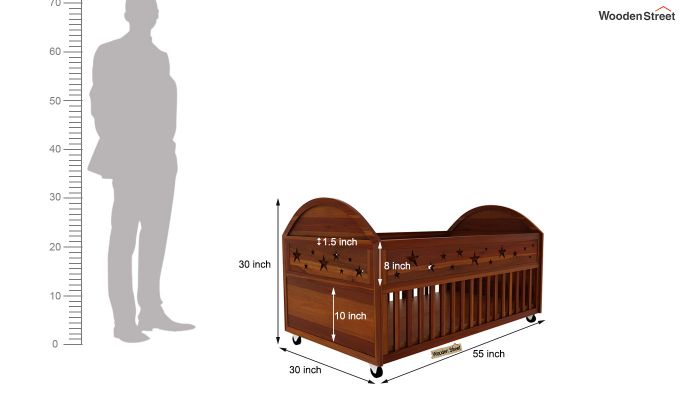 Pristine Crib (Honey Finish)-5