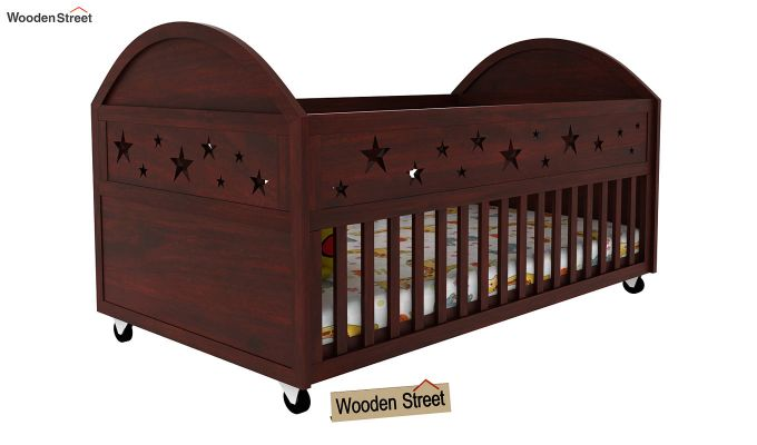 Pristine Crib (Mahogany Finish)-1