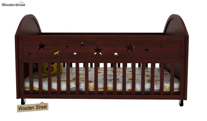 Pristine Crib (Mahogany Finish)-2