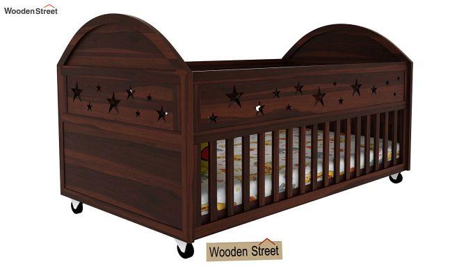 Pristine Crib (Walnut Finish)-1