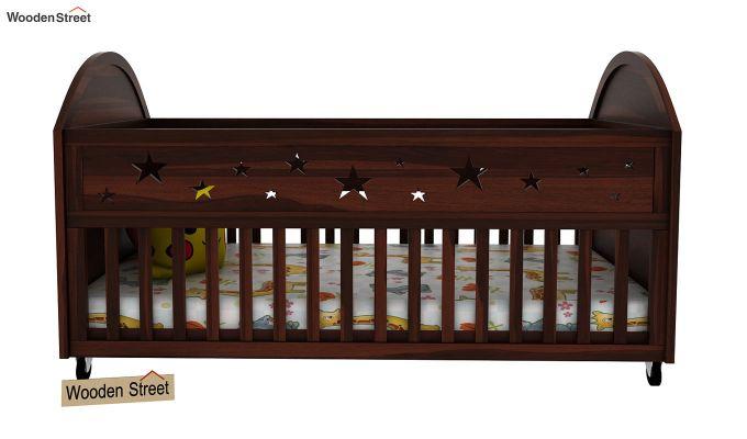 Pristine Crib (Walnut Finish)-2