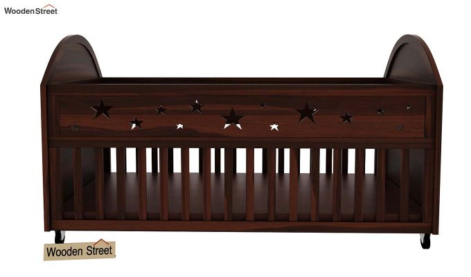 Pristine Crib (Walnut Finish)-4