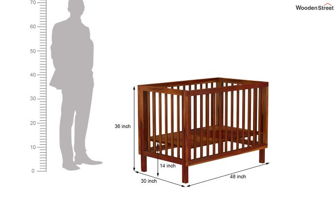 Revo Crib (Honey Finish)-8
