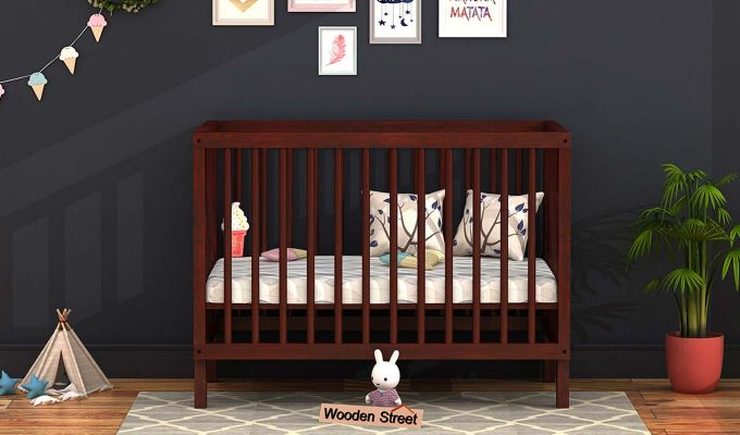 Revo Crib (Mahogany Finish)-1