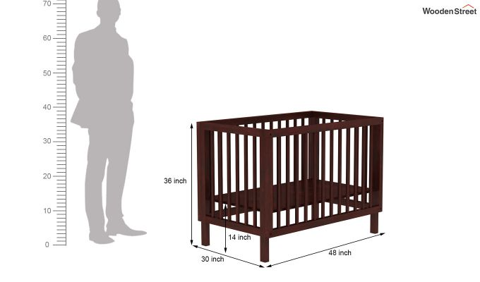 Revo Crib (Mahogany Finish)-8