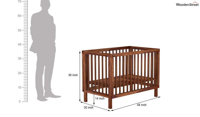 Revo Crib (Teak Finish)-8